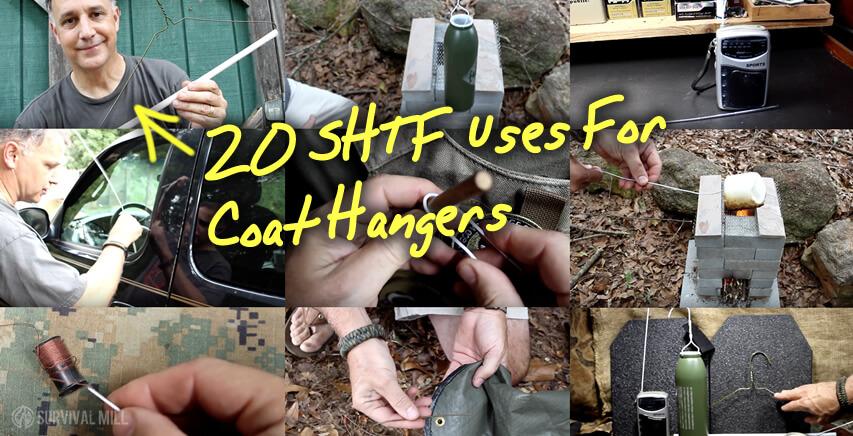 20 SHTF Uses For Coat Hangers